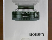 Canon EFs 24mm and 50mm camera lenses