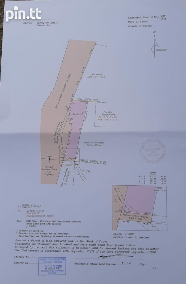 1 and 1/2 Acre Parcel Tamboo Trace, Claxton Bay