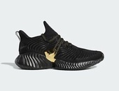 Adidas black gold Alphabounce sneakers Size 11
