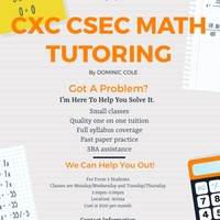 CXC CSEC MATH TUITION - FORM 5