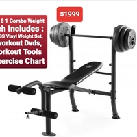 Weight bench combo 100lbs