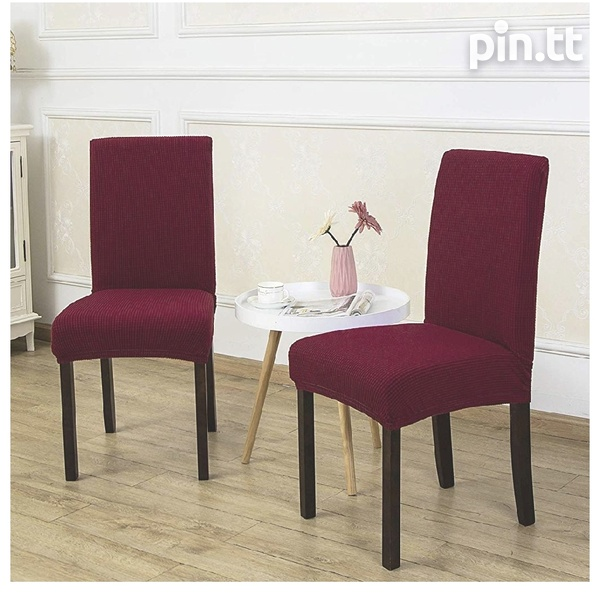 6pc Burgundy Dining Set Chair covers-2