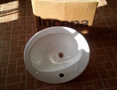 Two face basin with tap new brand never used still in box