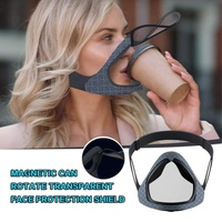 Automatically Open Magnetic Fashion Adult Silicone Drinking Mask