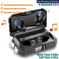 Q8 TWS Bluetooth 5.0 IPX5 Wireless Earbuds with Power Bank