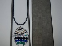 Pendant with glass beads