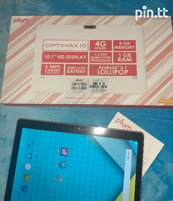 10.1 inches Plum tablet in excellent condition-1