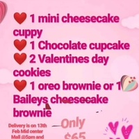 Valentines day sweet box and chocolate covered strawberries