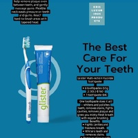 Glister toothpaste and toothbrush