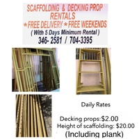 Scaffolding and decking props rental