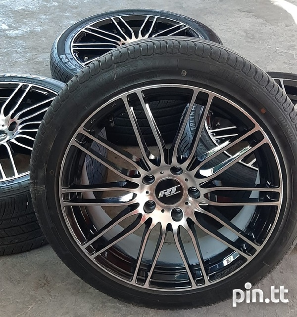 18 inch Black and Silver Rims and Tyres.-1