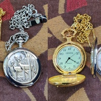 Father's Day Special On Antique Pocket Watches In Gold & Black Read Details Below