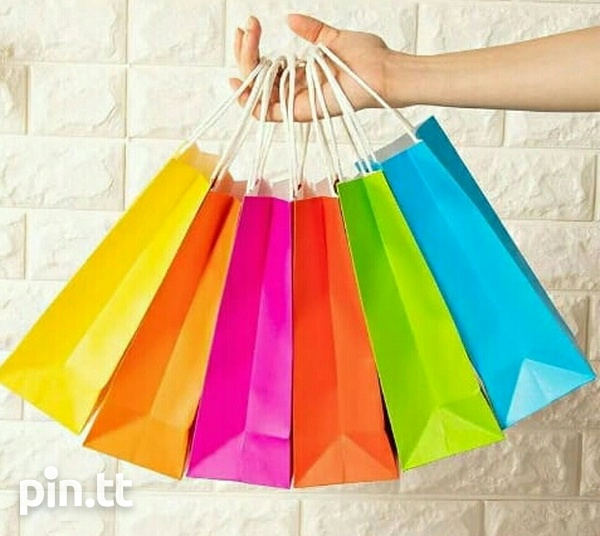24 Assorted Coloured Paper Gift Bags-2