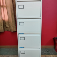 Four cabinet, locking filing cabinets