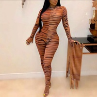 Sheer Tiger Print Body Suit