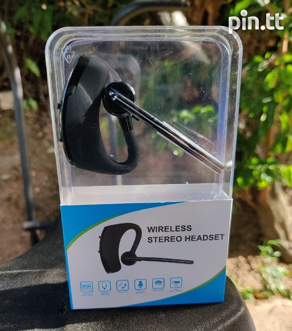 V8 Wireless Stereo Bluetooth Headset Read Specs When Scrolling Pics-1