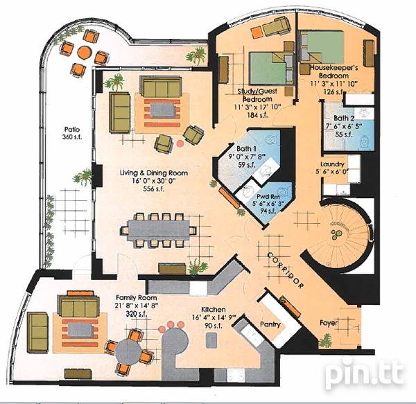 One Woodbrook Place Penthouse with 5 Bedrooms-1
