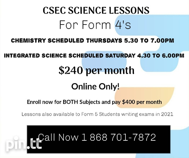CSEC SCIENCE LESSONS