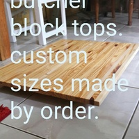 Hand made custom sizes long grain cutting boards made by orders.