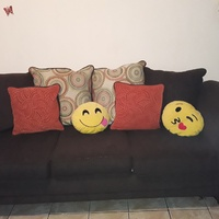 3pcs couch set extra pillows and legs