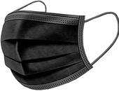 Black 4 PLY Disposable Surgical Grade Mask