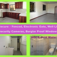 2 bedroom apartment - Ramjohn Trace, Penal. Security cameras, electric gate.