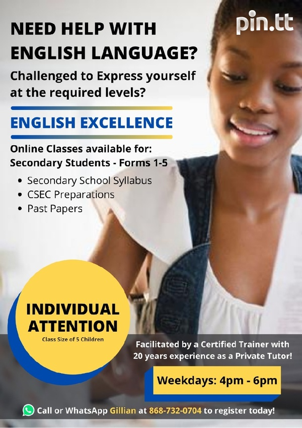 Secondary School Students Let's Enhance Your English Language