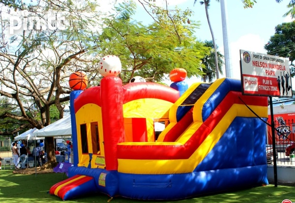 Sport themed bounce and slide bounce house-1