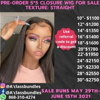 Closure Wigs, Use my referral code for discounts on any purchase.