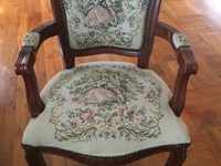 Antique tapestry armchair