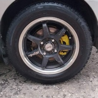 Staggered 15s rims and tires for trade