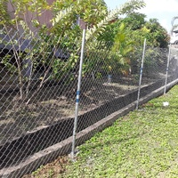 Chain link fence installation