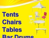 Tents, chairs, tables and more for all your events