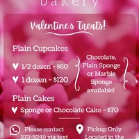 Fresh Homemade Valentine's Cupcakes and Cakes