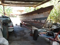 28ft pirogue and trailer