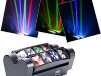 DJ Moving Head Lights Beam Spider Light 8x10W RGBW with DMX for Party