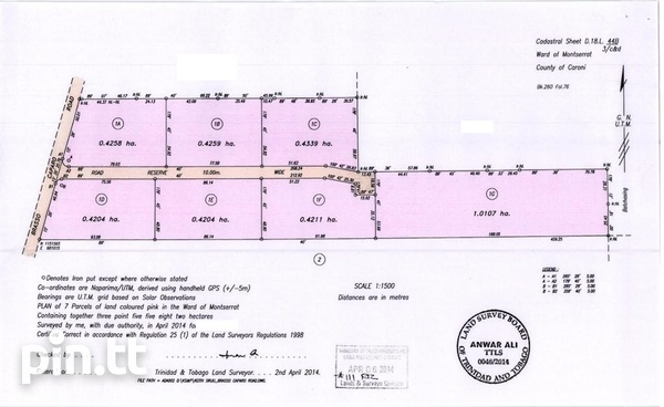 9.5 Acres Agri Approved Land, Gran Couva-1