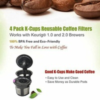 Coffee Brewing Cups, Refillable, Reusable
