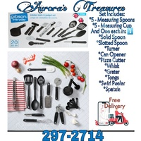 The Gibson Everyday 20-Piece Kitchen Tool and Gadget Set. Utensils