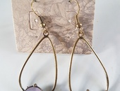 Semi precious genuine Amethyst earings