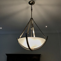 Modern Chrome/Frosted Glass Light - Pendant Chandelier