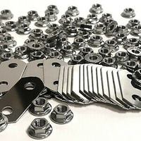 18 Nickel plated bus bars and 40 nickel plated nuts