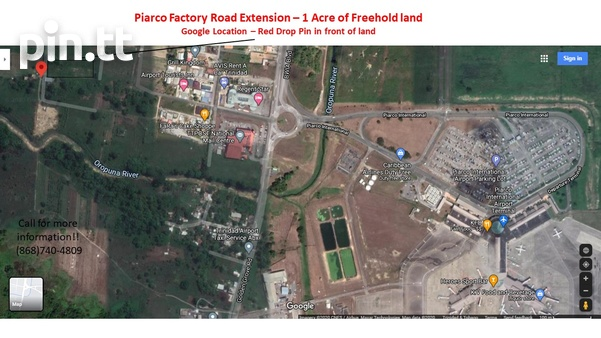 Potential for Condos/Townhouses/Warehouse- Piarco 1 Acre Freehold land-4