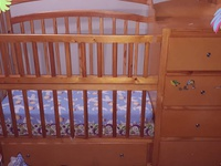 2 in 1 crib and dresser