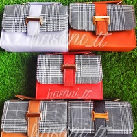 Plaid & Solid Coloured Side Bags