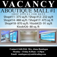 Vacant Shops at Aboutique Mall, Port of Spain.