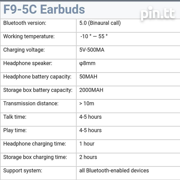 F9-5C 2 IN1 EARBUD AND POWER BANK....swipe left..-2