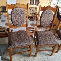 Single teak chairs