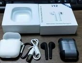 i12 Airpods with Case and Clip