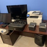 P.O.S. System, touch screen monitor, cash register draw, two
